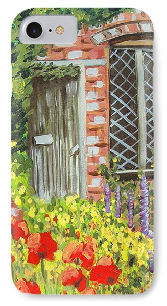The Artist's Cottage IPhone Case by Laurie Morgan