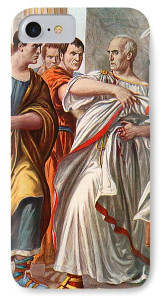 The Assassination Of Julius Caesar IPhone Case by Tancredi Scarpelli