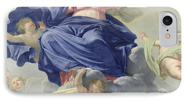 The Assumption Of The Virgin IPhone Case by Philippe de Champaigne