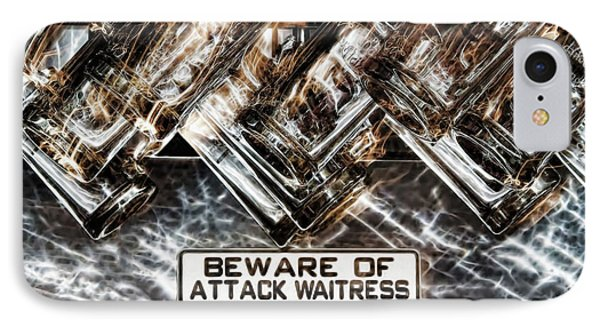 The Attack Waitress  Phone Case by Joan  Minchak