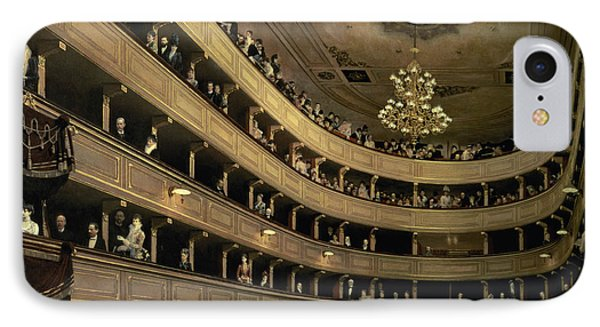 The Auditorium Of The Old Castle Theatre IPhone Case by Gustav Klimt