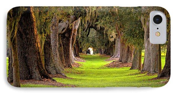The Avenue Of Oaks 4 St Simons Island Ga Art IPhone Case by Reid Callaway