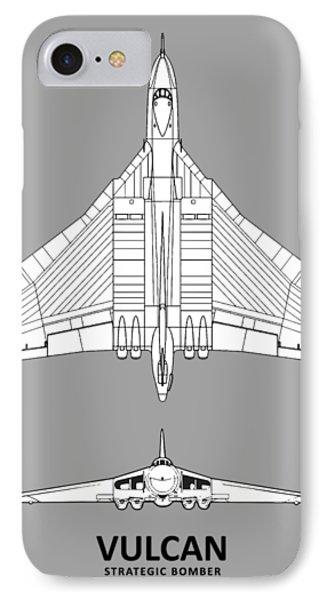 The Avro Vulcan IPhone Case by Mark Rogan