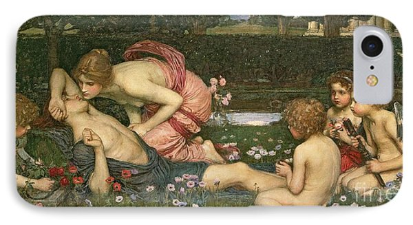 The Awakening Of Adonis IPhone Case by John William Waterhouse