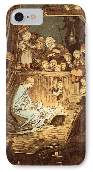 The Babe Lying In A Manger  IPhone Case by Victor Paul Mohn