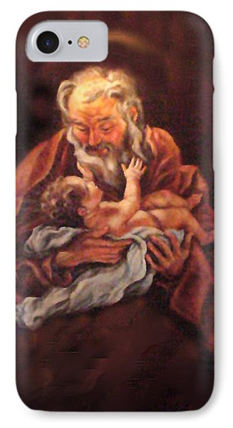 IPhone Case featuring the painting The Baby Jesus - A Study by Donna Tucker