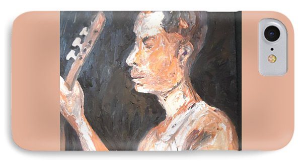 IPhone Case featuring the painting The Baglama Player by Esther Newman-Cohen