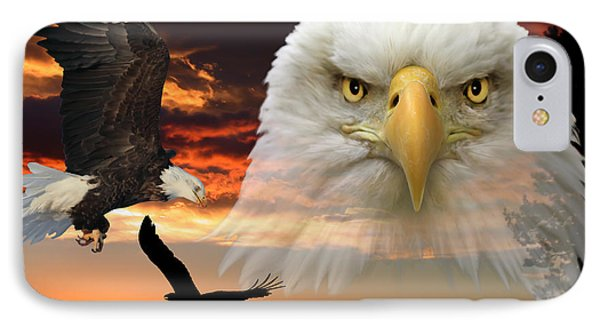 IPhone Case featuring the photograph The Bald Eagle by Shane Bechler