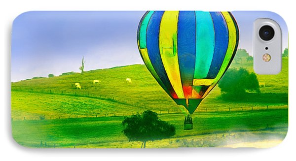 The Balloon In The Farm - Ph IPhone Case by Leonardo Digenio
