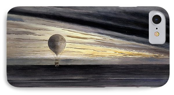 The Balloon, Zenith, During A Long Distance Flight From Paris To Bordeaux  IPhone Case