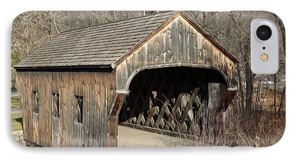 The Baltimore Covered Bridge - Springfield Vermont Usa Phone Case by Erin Paul Donovan