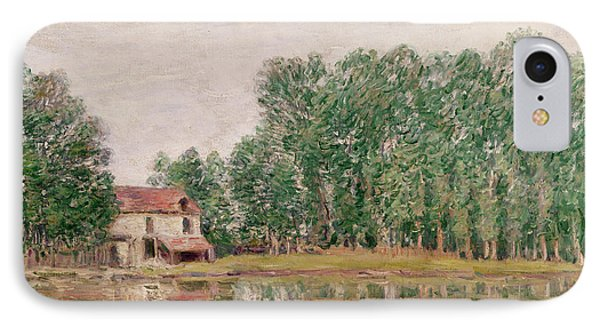 The Banks Of The Canal At Moret Sur Loing Phone Case by Alfred Sisley
