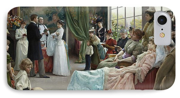 The Baptism, 1892 IPhone Case by Julius Leblanc Stewart