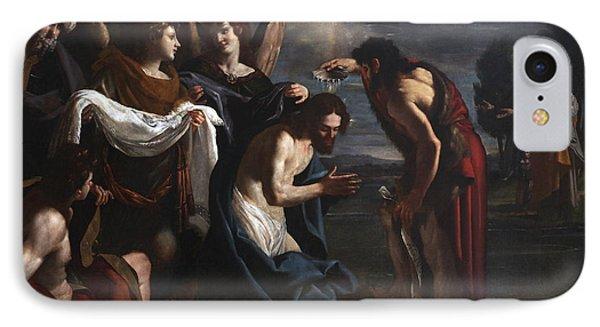 The Baptism Of Christ IPhone Case by Emilio Savonanzi