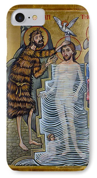 The Baptism Of Christ IPhone Case by Filip Mihail