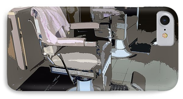 The Barber's Chairs IPhone Case by David Lee Thompson