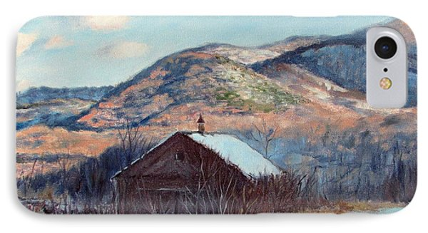 The Barn In Winter IPhone Case by Bonnie Mason