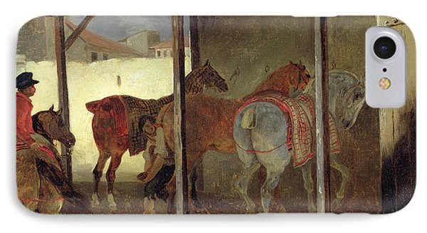 The Barn Of Marechal-ferrant Phone Case by Theodore Gericault