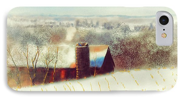 The Barn Over The Hill IPhone Case by Lois Bryan