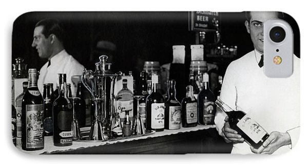 The Bartender Is Back - Prohibition Ends Dec 1933 IPhone Case by Daniel Hagerman