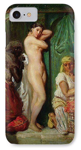 The Bath In The Harem Phone Case by Theodore Chasseriau