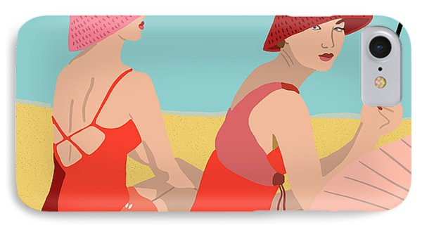 The Bathers IPhone Case by Nicole Wilson
