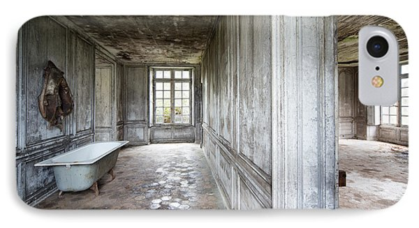 The Bathroom Next Door - Urban Exploration IPhone Case by Dirk Ercken