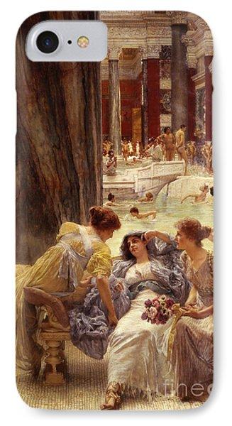 The Baths Of Caracalla IPhone Case by Sir Lawrence Alma-Tadema