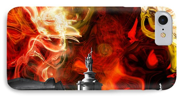 The Battle Continues IPhone Case by John Rizzuto