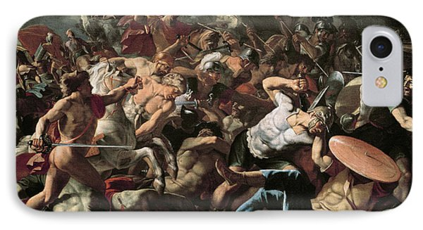 The Battle Phone Case by Nicolas Poussin