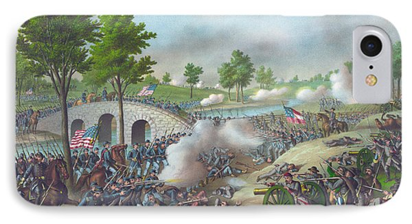 The Battle Of Antietam IPhone Case by American School