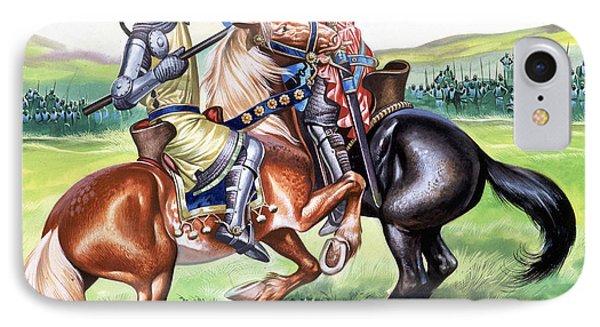 The Battle Of Bannockburn IPhone Case by Ron Embleton