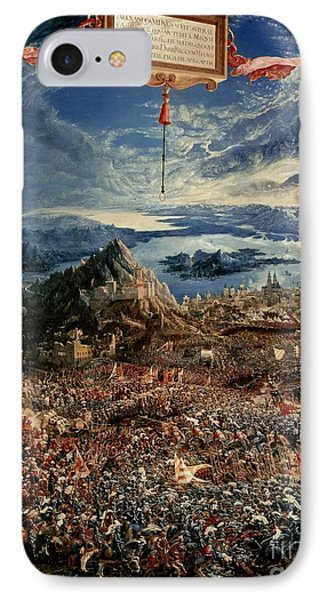 The Battle Of Issus Phone Case by Albrecht Altdorfer