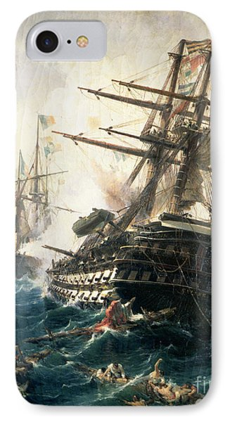 The Battle Of Lissa IPhone Case by Constantin Volonakis