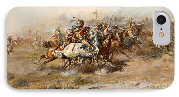 The Battle Of Little Bighorn IPhone Case by Charles Marion Russell