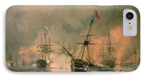 The Battle Of Navarino IPhone Case by Ivan Konstantinovich Aivazovsky