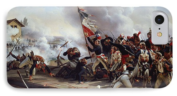The Battle Of Pont D'arcole IPhone Case by Emile Jean Horace Vernet