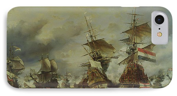 The Battle Of Texel Phone Case by Louis Eugene Gabriel Isabey