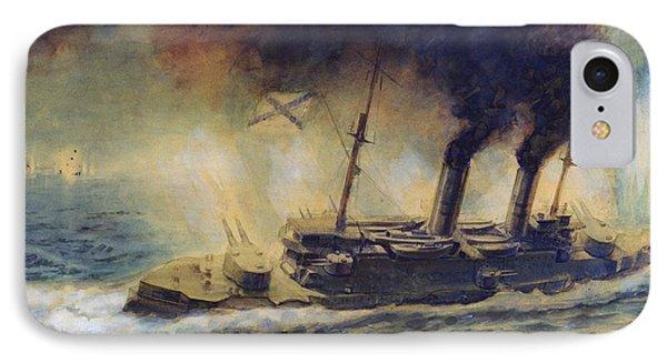 The Battle Of The Gulf Of Riga Phone Case by Mikhail Mikhailovich Semyonov