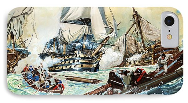 The Battle Of Trafalgar IPhone Case by English School