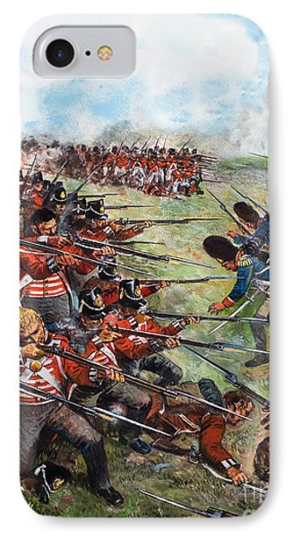 The Battle Of Waterloo, 1815 IPhone Case by Clive Uptton