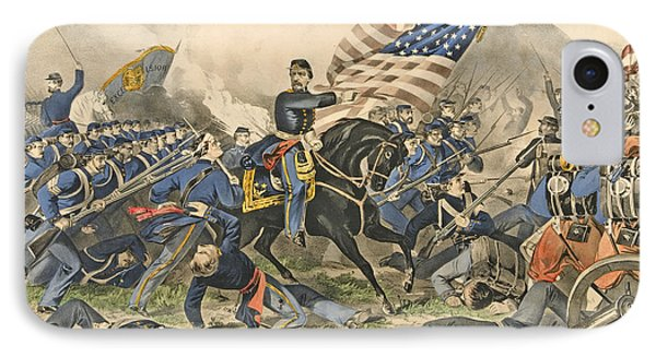 The Battle Of Williamsburg, Va IPhone Case by Currier and Ives