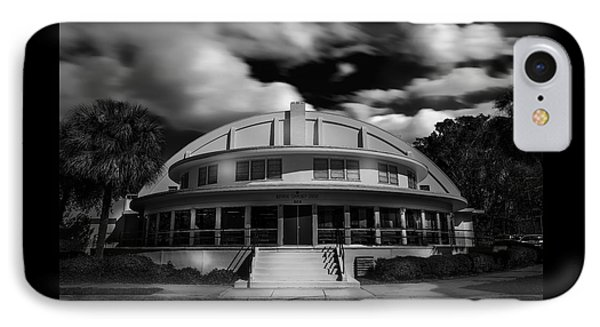 The Bay Front Community Center Bw IPhone Case by Marvin Spates