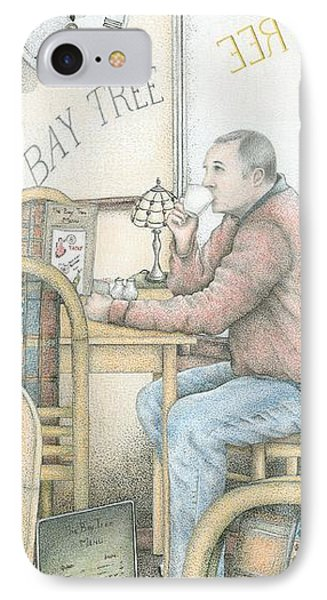 The Bay Tree Cafe Clock IPhone Case by Sandra Moore