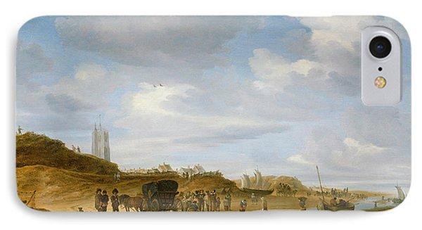 The Beach At Egmond An Zee Phone Case by Salomon van Ruysdael