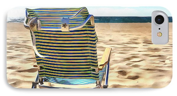 The Beach Chair 2 IPhone Case by Edward Fielding