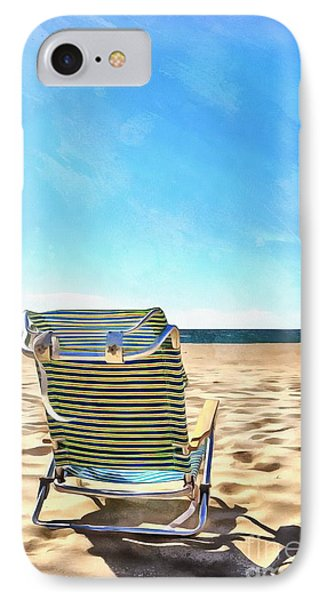 The Beach Chair IPhone Case by Edward Fielding