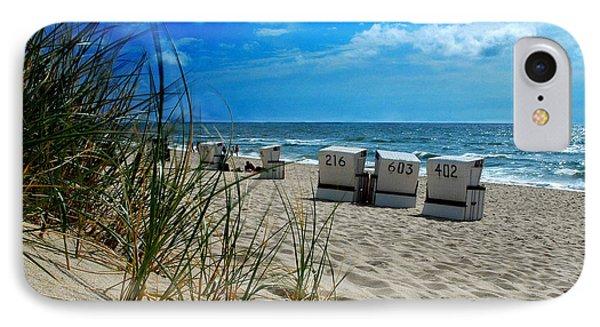 The Beach Phone Case by Hannes Cmarits