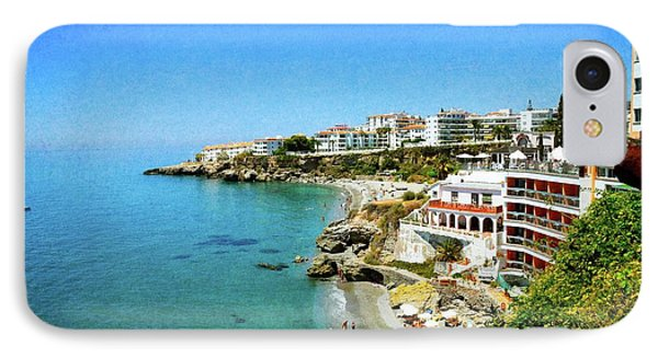IPhone Case featuring the photograph The Beach - Nerja Spain by Mary Machare