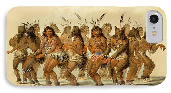 The Bear Dance IPhone Case by George Catlin